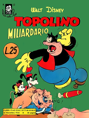 Albi della Rosa 53 - Topolino Miliardario ( 1955-11-13)