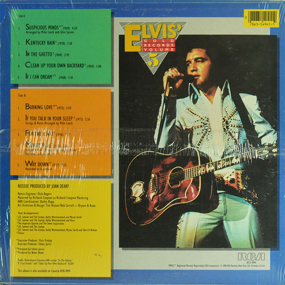 ELVIS' GOLD RECORDS VOL 5 Afl1-4941bgzun6