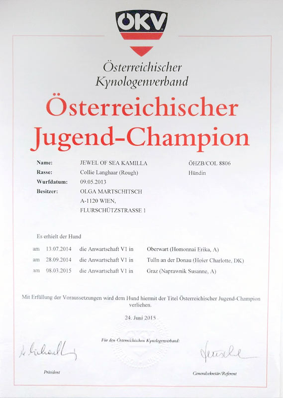 Austrian Junior Champion