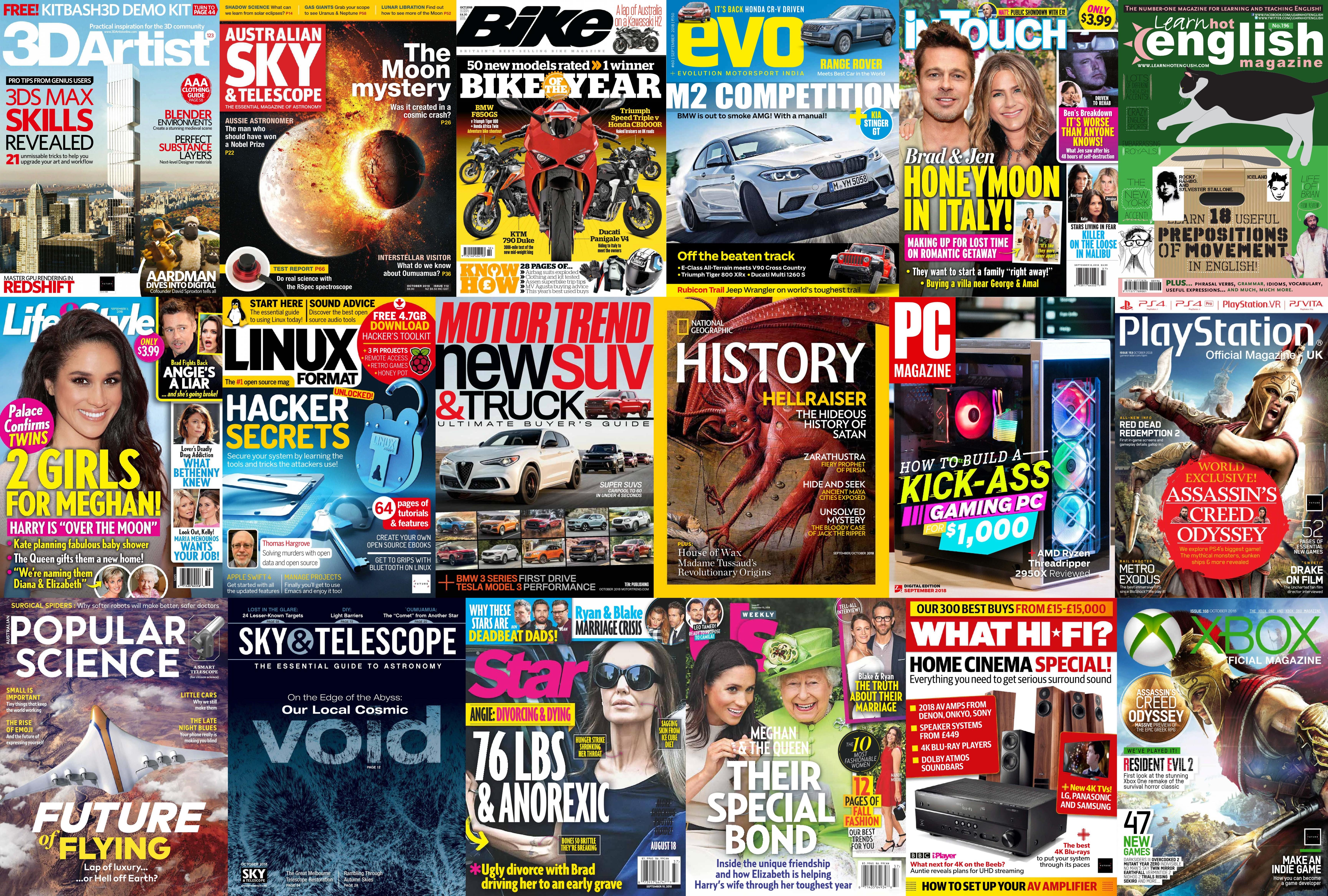 Assorted Magazines - September 2 2018