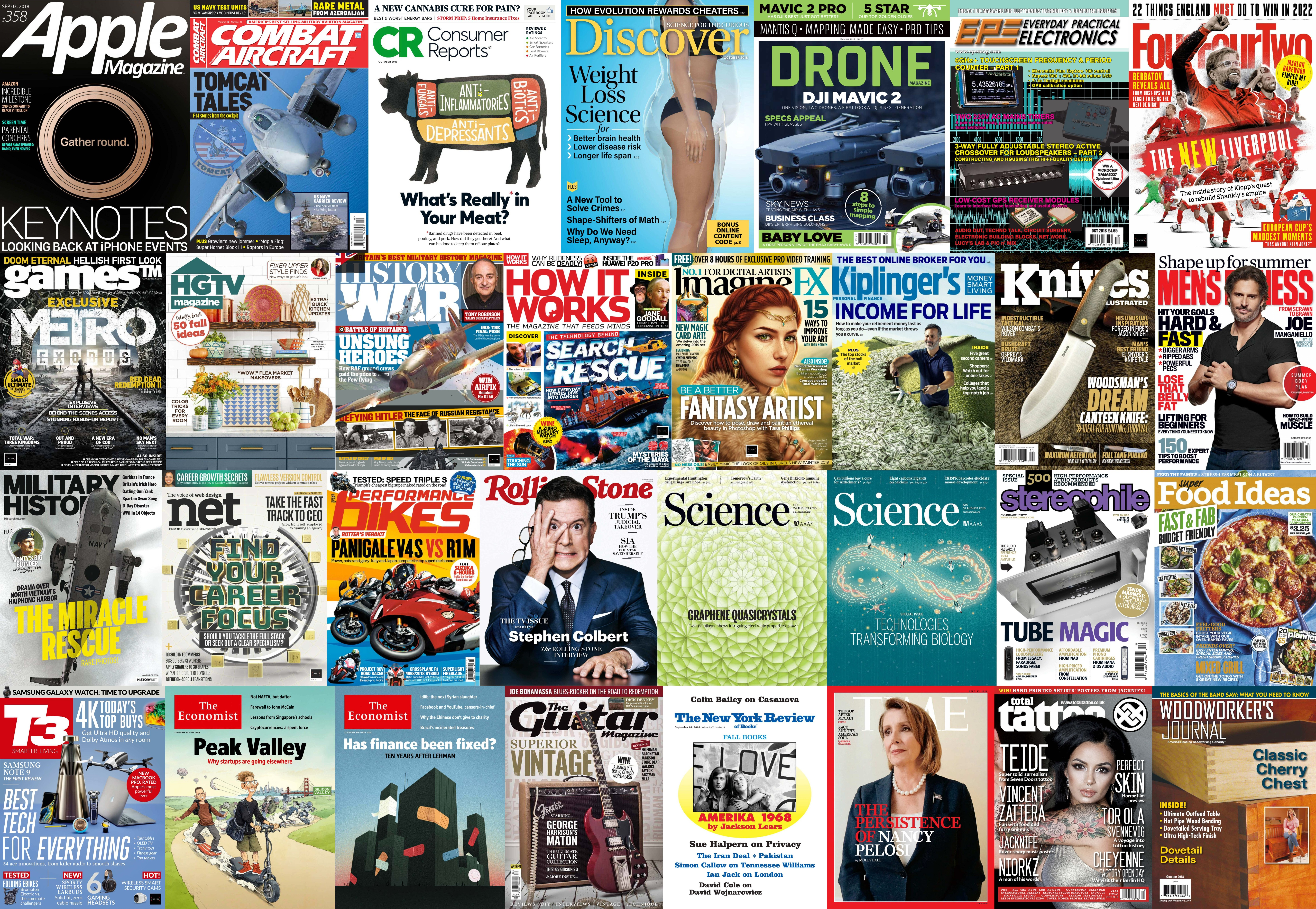 Assorted Magazines - September 8 2018