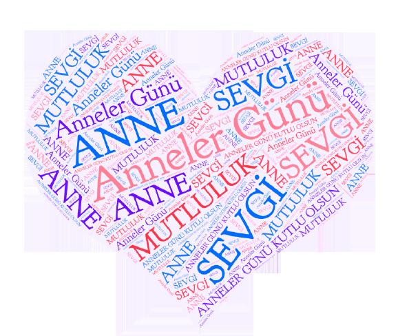 Anneler Günü  Kalp  E kart