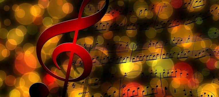 Müzik Nota arkafon resimleri