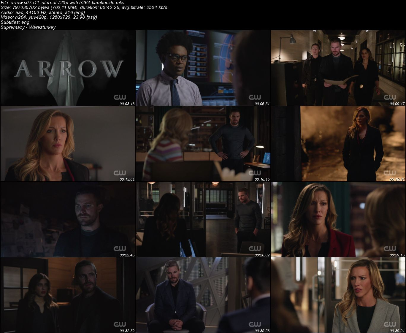 Arrow - Sezon 7 - 720p HDTV - Türkçe Altyazılı