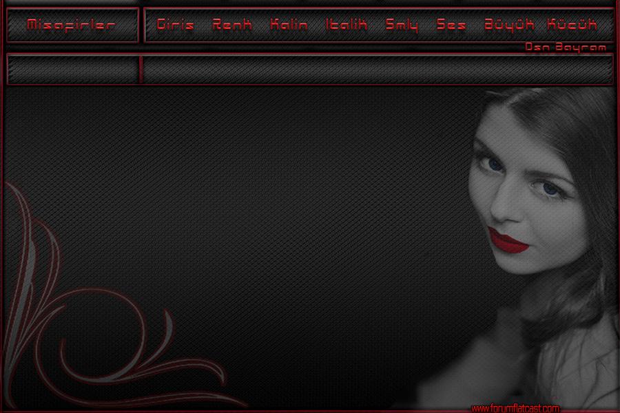 Gri kırmızı bayan tema