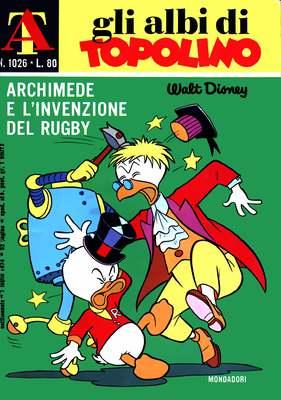 Gli Albi di Topolino n° 1026 - Archimede e l'invenzione del rugby (1974)
