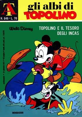 Gli Albi di Topolino 0846 - Topolino e il tesoro degli incas (Mondadori 1971-01-24)