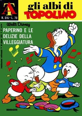 Albi di Topolino 816 - Paperino e le delizie della villeggiatura (1970)