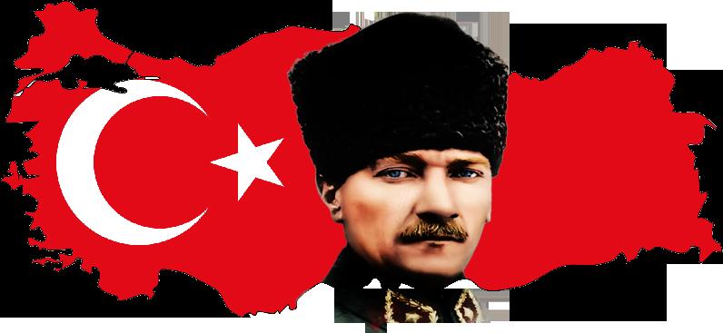 Turkiye Haritasi Uzerinde Ayyildiz Ataturk Resimleri