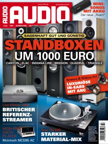 Cover: Audio Das Magazin für HiFi, Surround, High End, Musik No 07 2021
