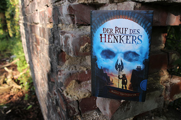 Buch auf Mauer, Fantasy, Jugendbuch, Thienemann-Esslinger, Björn Springorum, Der Ruf des Henkers,