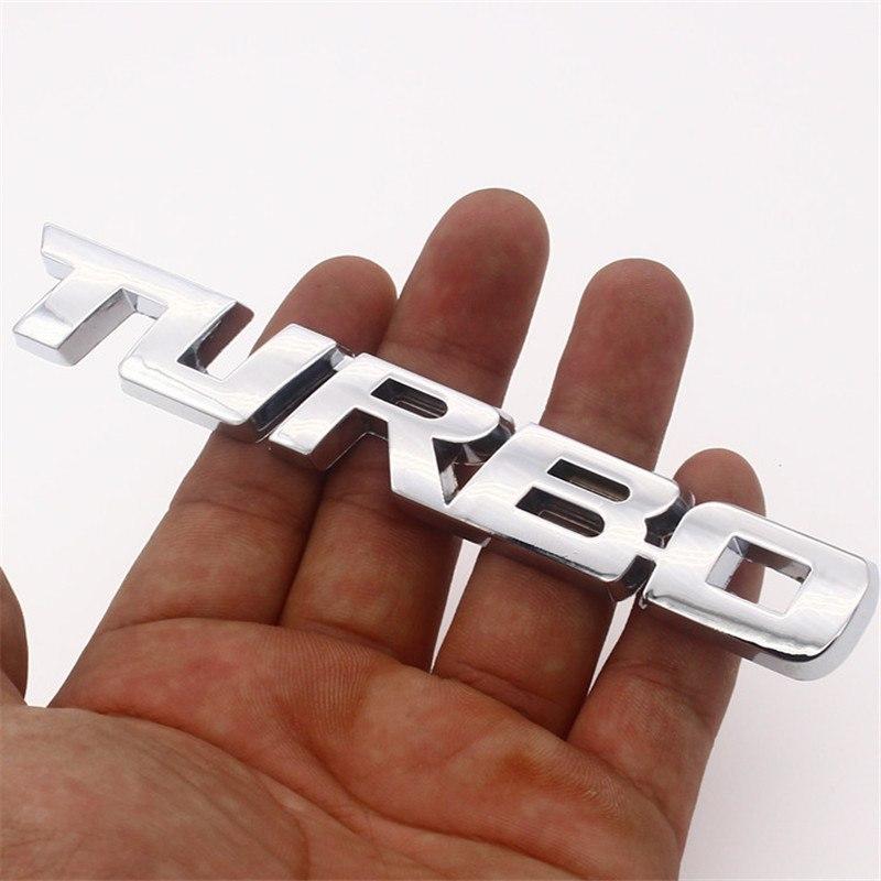 3d turbo schriftzug emblem silber metall sticker car. Black Bedroom Furniture Sets. Home Design Ideas