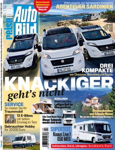 Cover: Auto Bild Reisemobil Magazin No 07 2021