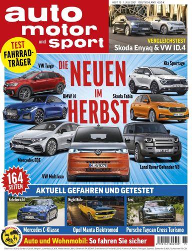 Cover: Auto Motor und Sport Magazin No 15 vom 01  Juli 2021