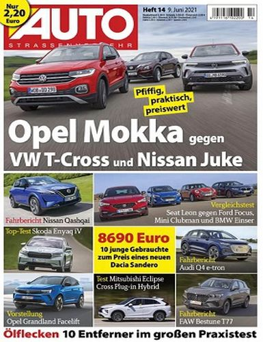 Cover: Auto Strassenverkehr Magazin No 14 vom 09  Juni 2021