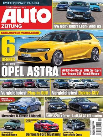 Cover: Auto Zeitung Das Premium-Testmagazin No 14 vom 23  Juni 2021