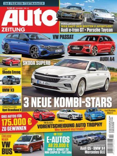 Cover: Auto Zeitung Premium-Test-Magazin No 13 vom 09  Juni 2021