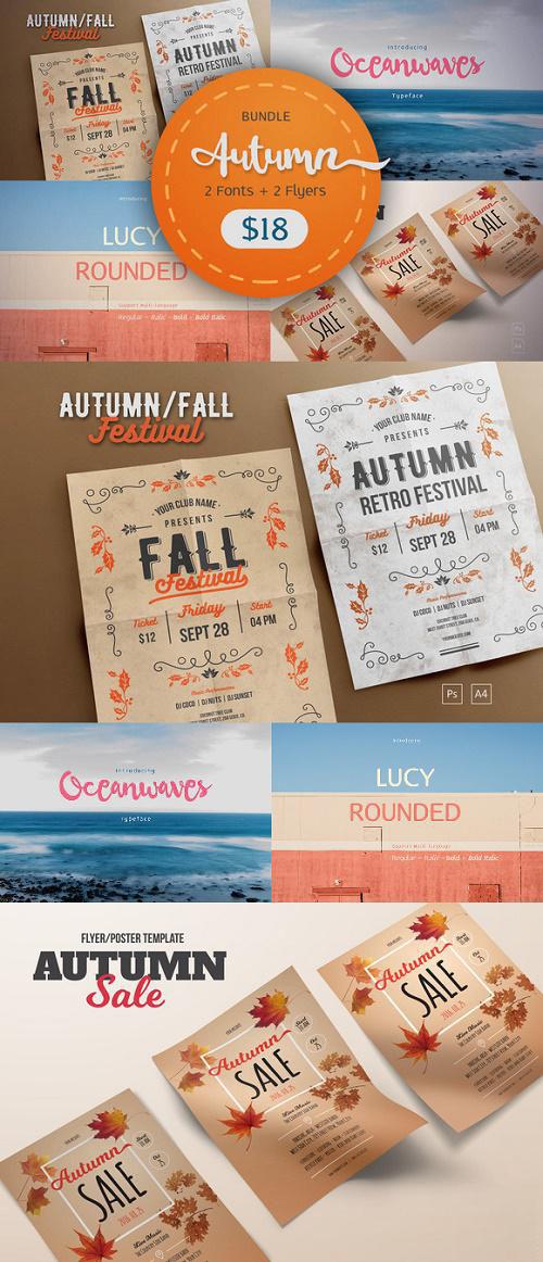 Autumn Bundle Font+Flyer