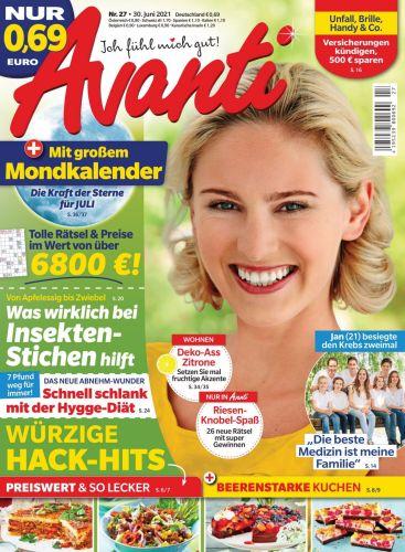 Cover: Avanti Frauenmagazin No 27 vom 30  Juni 2021