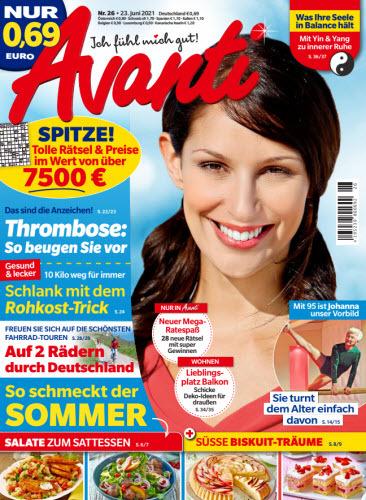 Cover: Avanti Frauenmagazin No 26 vom 23  Juni 2021