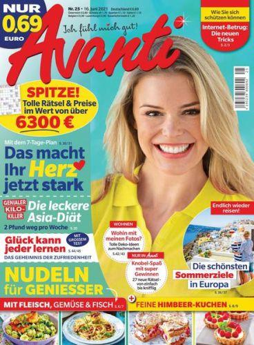 Cover: Avanti Frauenmagazin No 25 vom 16  Juni 2021