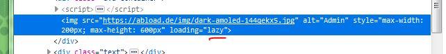 [phpBB2] bild wird in chrome nicht angezeigt, lazy loading deaktivieren? Avatarhtmlzuj8o