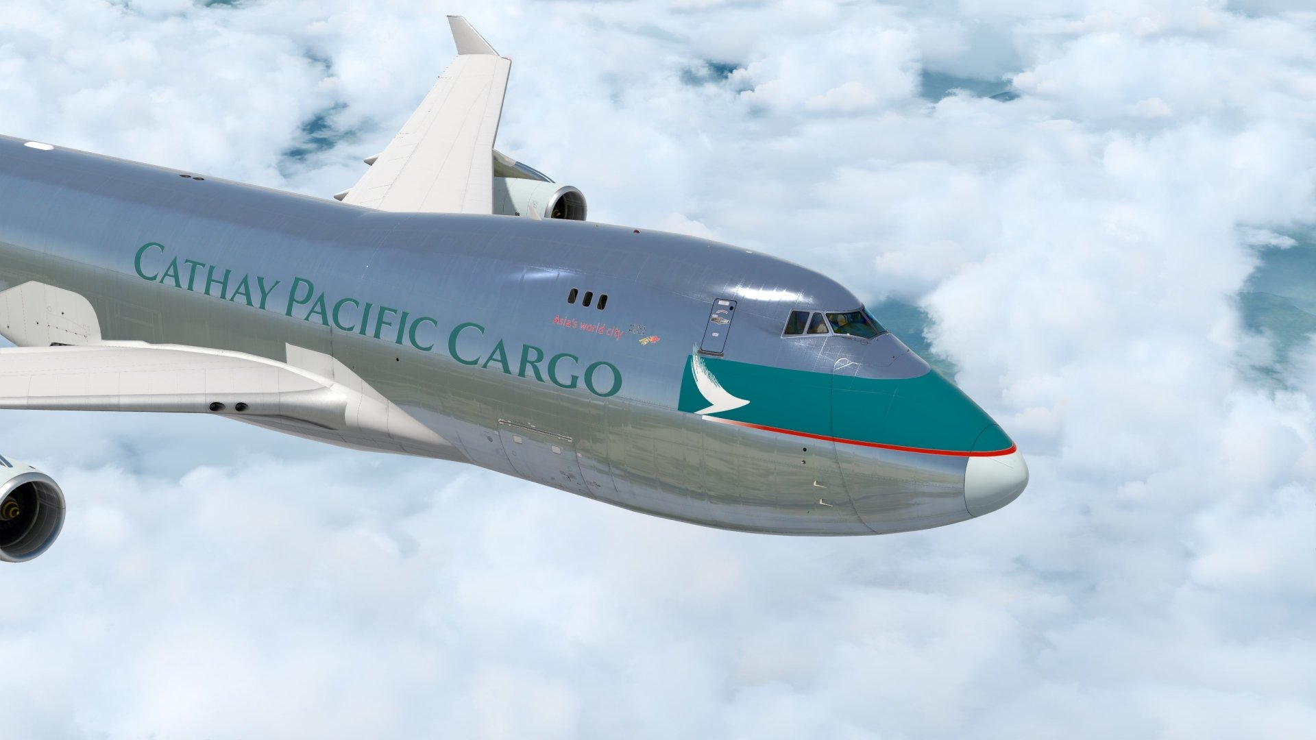 PMDG 747 Cathay Pacific B-HUK wip - The AVSIM Screen Shots