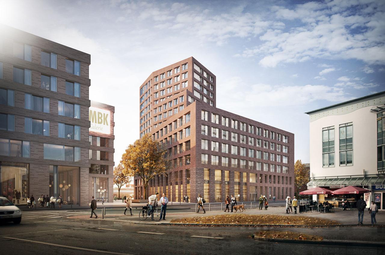 Hochhauswelten hamburg vbg zentrale 56m - Apb architekten ...
