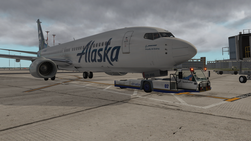 Alaska Airlines IFR-World Tour Zibo Boeing 737-800 - Fly the