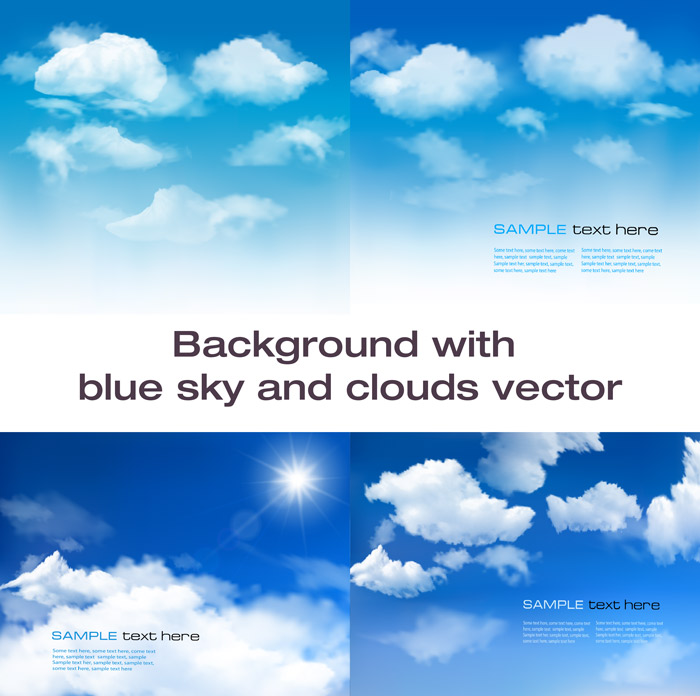 Blue Sky and Clouds Background Vector