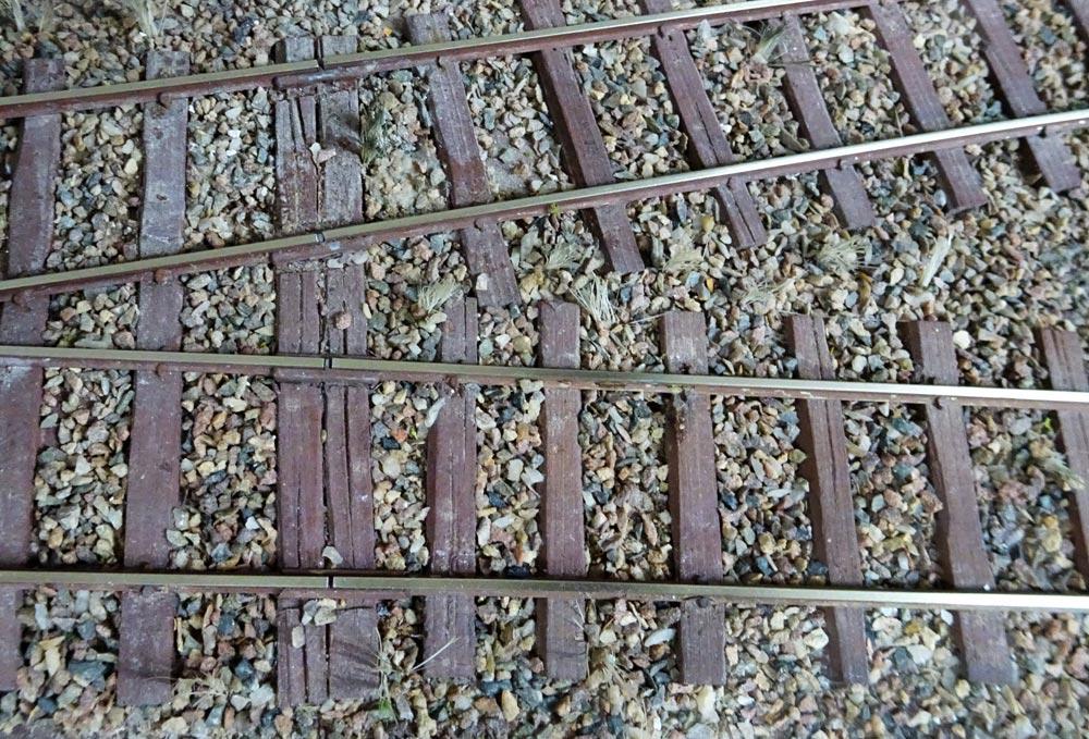 Weiche in Königskrug auf der BAE (0m)