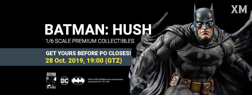 Premium Collectibles : Batman Hush Cover Art 1/6** Batmanhushpobannerfinqzkig