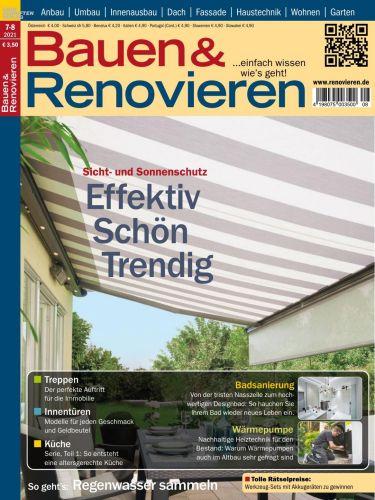 Cover: Bauen und Renovieren Magazin No 07-08 2021