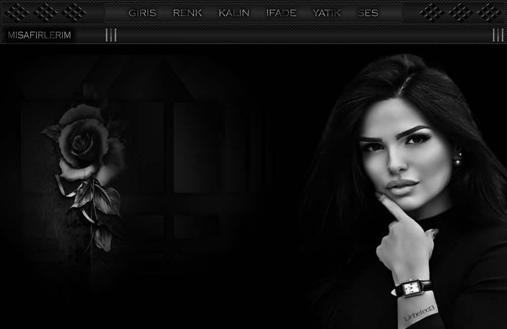 Bayan Siyah ve Beyaz Tema -28