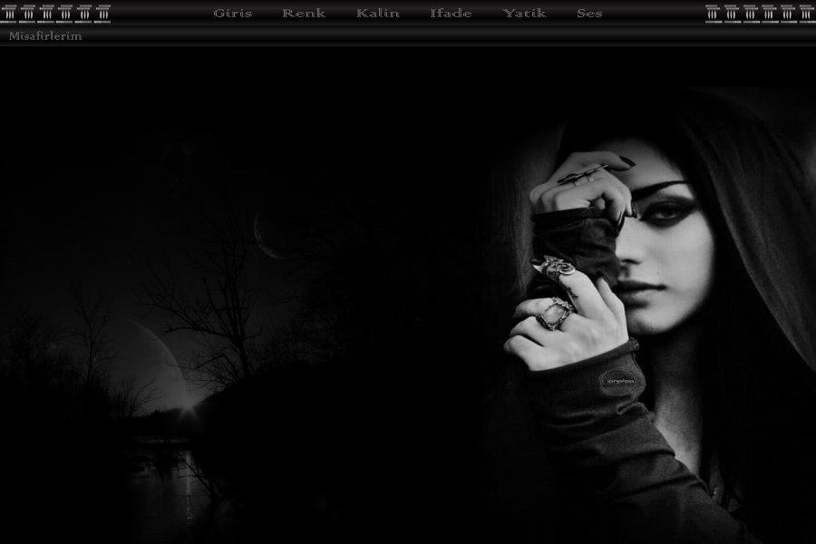 Bayan Siyah ve Beyaz Tema -13