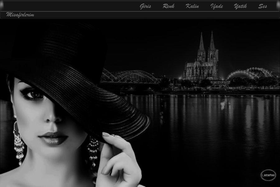 Bayan Siyah ve Beyaz Tema -8