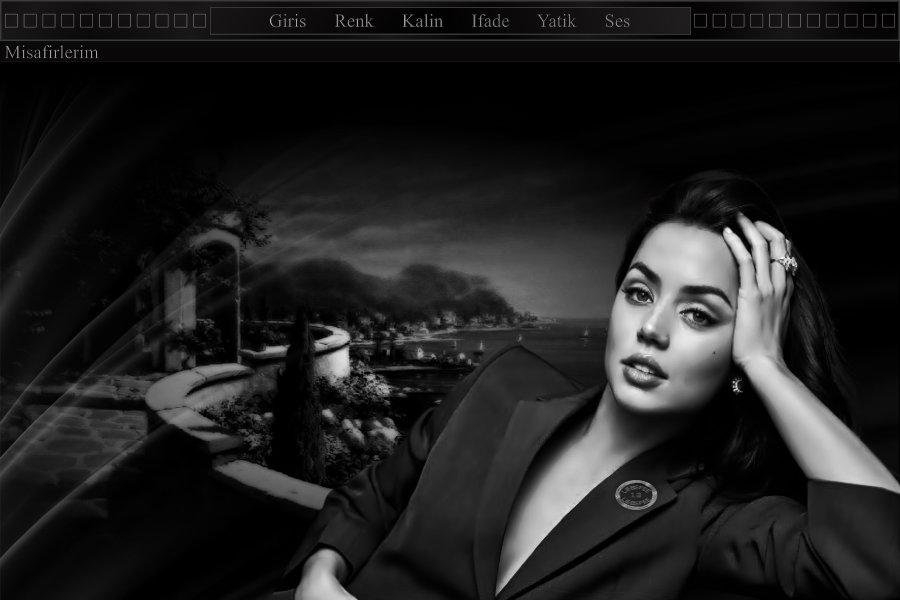 Bayan Siyah ve Beyaz Tema -19