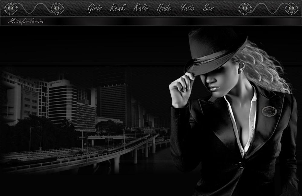 Bayan Siyah ve Beyaz Radyo Tema -25