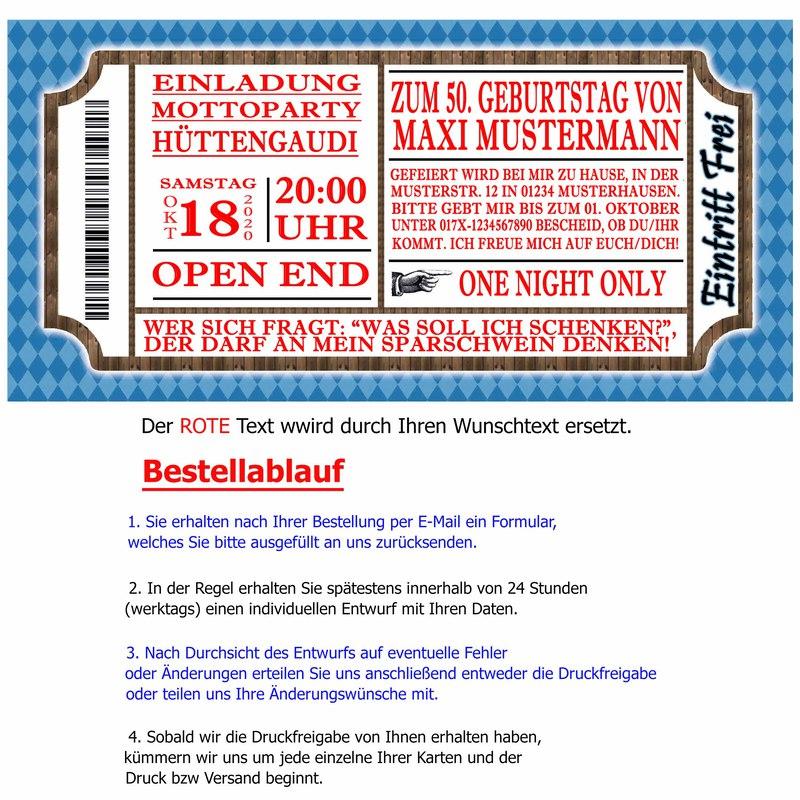 einladungskarten zum oktoberfest hüttengaudi geburtstag einladung, Einladung