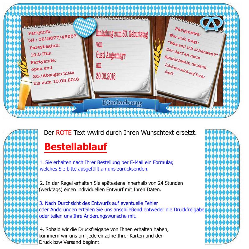 Einladungskarte Zum Oktoberfest Bayrisch Geburtstag Einladung O,  Einladungsentwurf