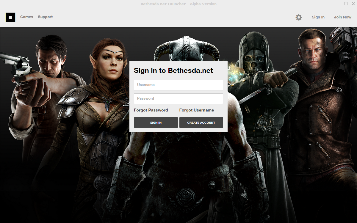 There is now a Bethesda net launcher (a la Origin, Steam, uPlay