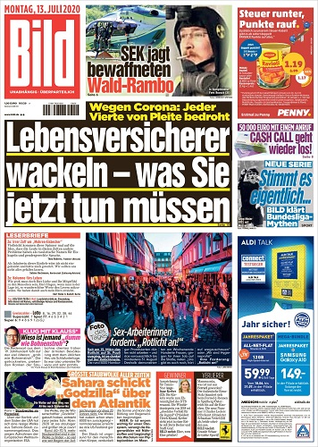 Bild Zeitung Titelseite Archiv