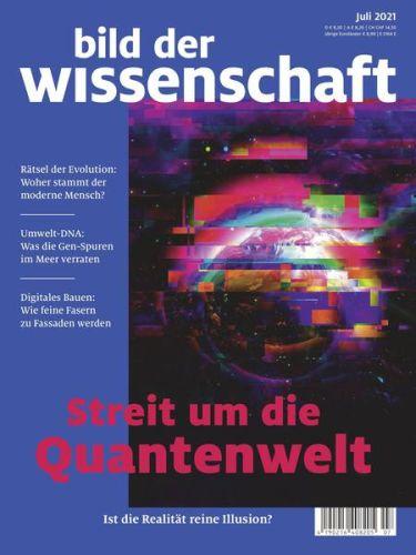 Cover: Bild der Wissenschaft No 07 Juli 2021