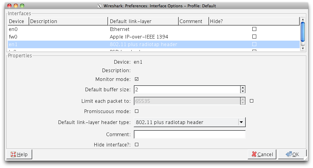 How to turn on monitor mode on Mac OS X - Wireshark Q&A