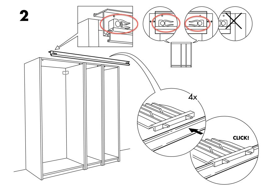 pax schiebet r wie gummiteile platzieren siehe fotos. Black Bedroom Furniture Sets. Home Design Ideas