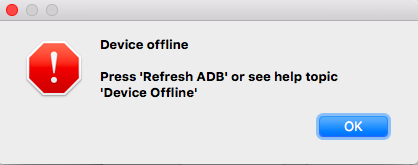 abfire can't connect - Device offline