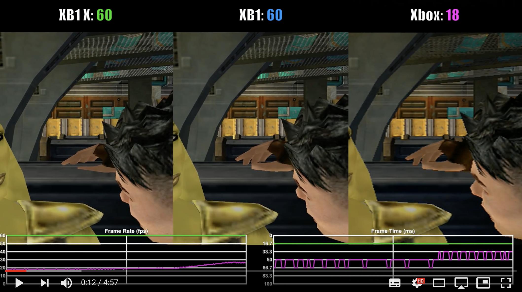 Jedi Academy Xbox One X vs Xbox One vs Original Xbox Backwards ...