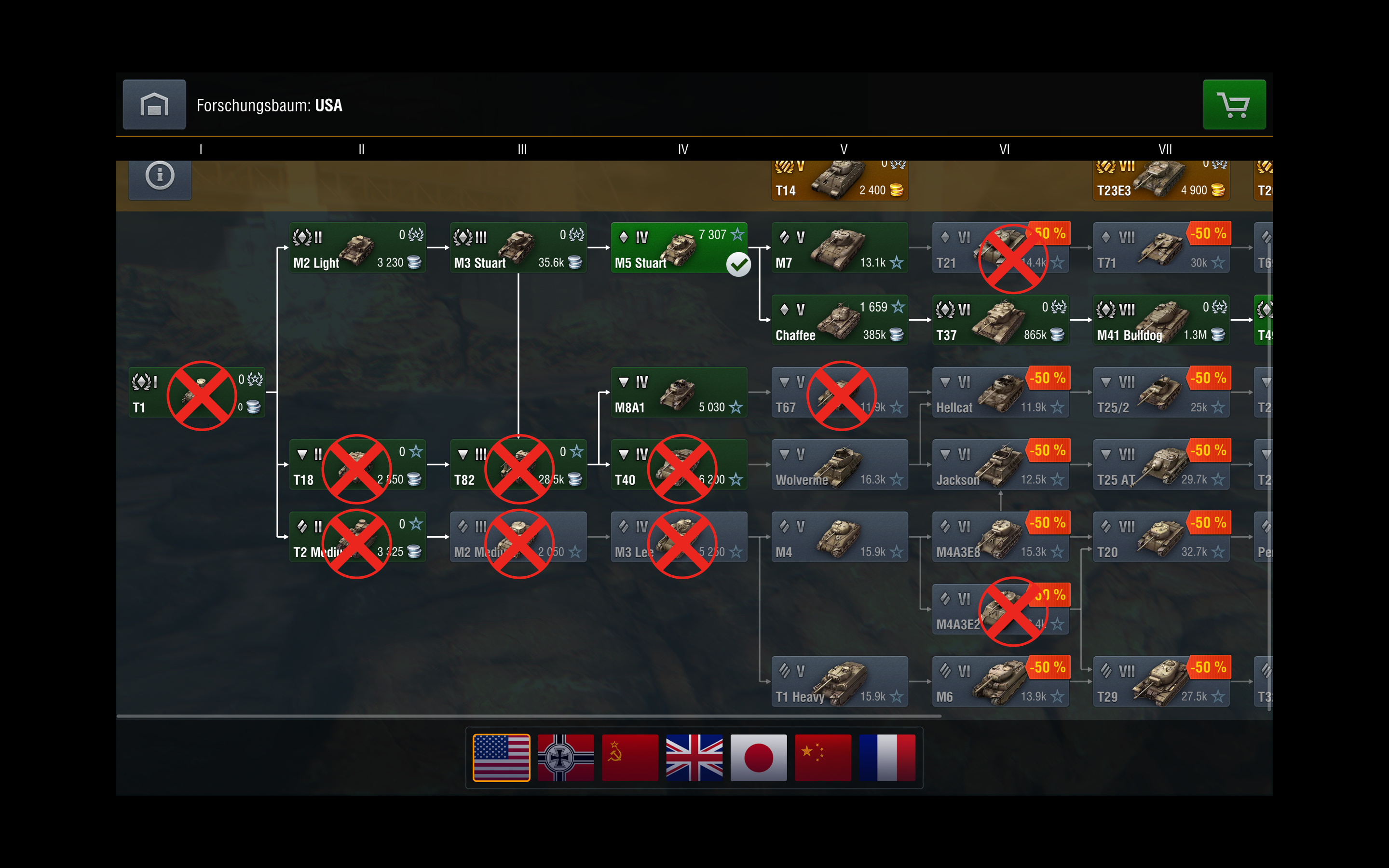 5 5 tank removals visualized in tech tree - Game Guides and