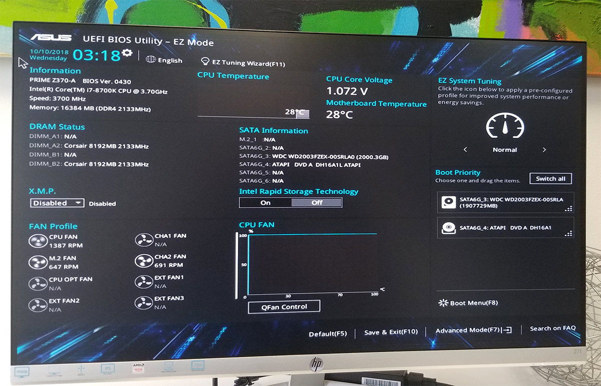 M2 not showing up in BIOS (ASUS Prime Z370-A) | Tom's