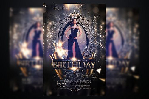 Birthday Party Flyer-Photoshop PSD